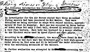 """Dagli archivi FBi spuntano gli Ufo """"Tre precipitarono negli Usa nel 1950"""""""