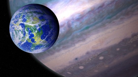 Illustrazione di una esoluna (Credit: NASA GSFC: Jay Friedlander and Britt Griswold)