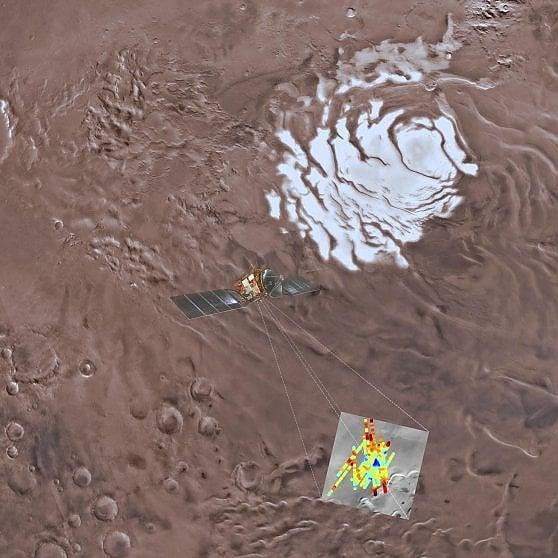 Il lago sotterraneo scoperto pochi mesi fa dal radar italiano Marsis