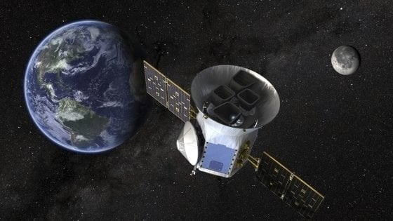 Un'illustrazione del satellite Tess